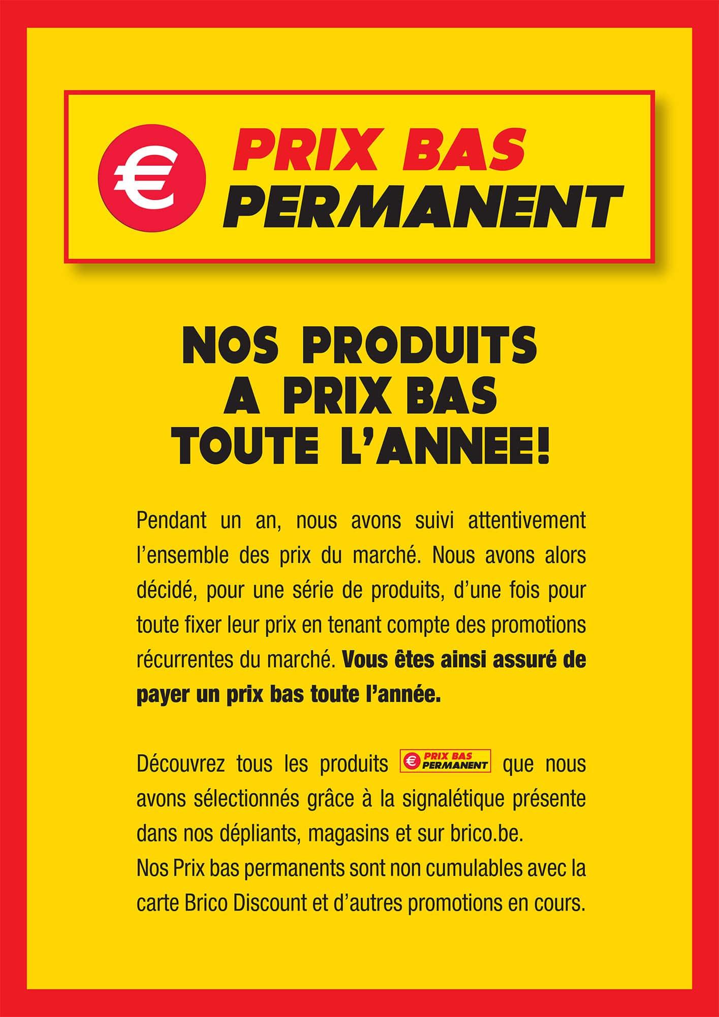 Prix Bas Permanent Brico Beauraing
