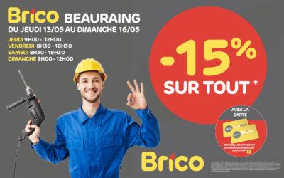 -15 %* sur tout grâce à votre carte 'Mon Brico'
